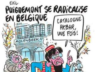 'Charlie Hebdo' mezcla yihadismo e independentismo catalán para burlarse de Puigdemont