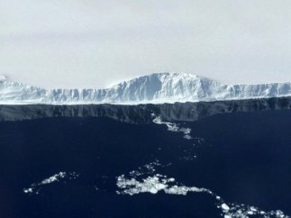 Frente del iceberg 'A 68'