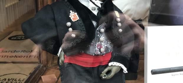 Réplica del Maneken Pis vestido de segoviano en el Museo de Bruselas