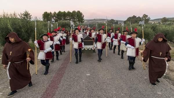 Imagen de archivo de la recreación del cortejo fúnebre