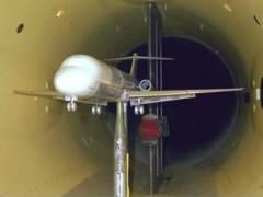 Un túnel de viento para probar un avión capaz de llegar a EE UU en 14 minutos