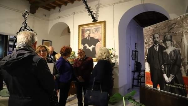 Inauguración de la exposición de Juan Ramón Jiménez en Moguer.