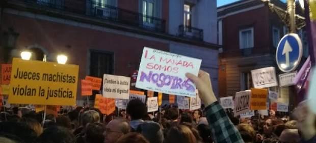 Manifestación contra la justicia patriarcal