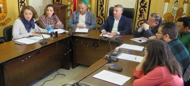 Rueda de prensa de alcaldes de la Sierra Sur de Sevilla