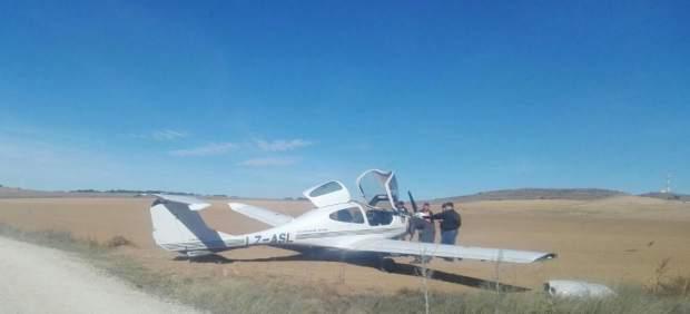 Avioneta que ha aterrizado en Soria