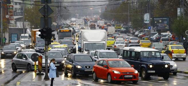 Tráfico en Bucarest