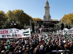Manifestación por un tren digno en Extremadura