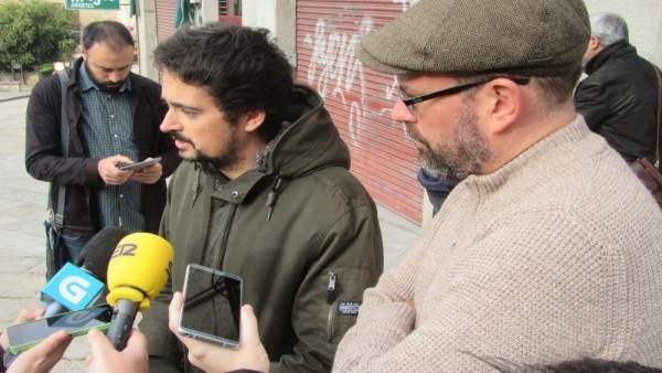 Martiño Xosé Vázquez y Martiño Noriega en declaraciones a los medios