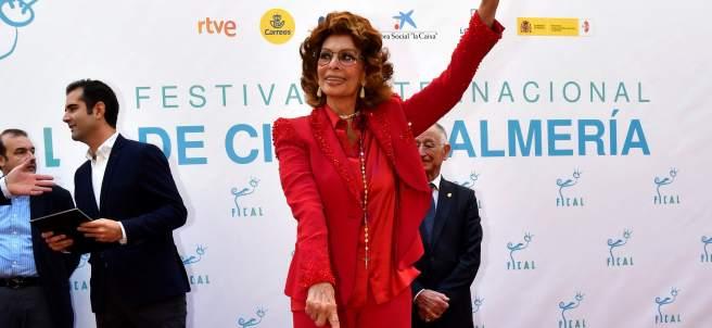 La actriz italiana Sophia Loren
