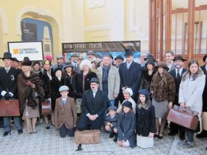 La Estación de Canfranc se promociona con 'Asesinato en el Orient Express'.