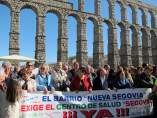 Segovia.- Cabecera de la manifestación con Luquero al frente