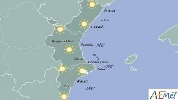 Sol en toda la región