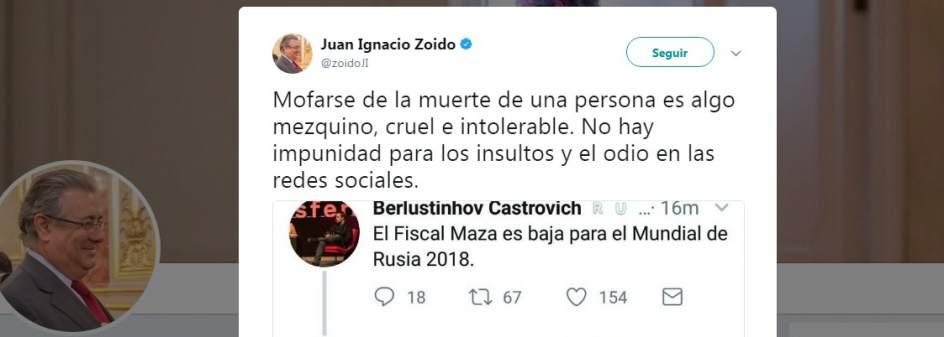 Zoido, ante los insultos a Maza: