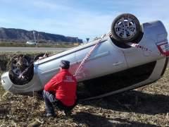Imagen del accidente en Caparroso.