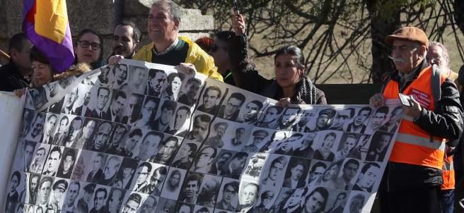 Protesta republicana en el Valle de los Caídos