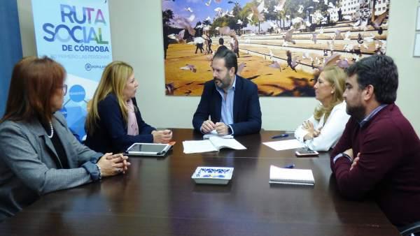 Reunión entre el PP y la Federación de Enseñanza de USO-Andalucía