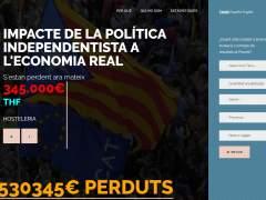Promueven una web para cuantificar el efecto económico de la crisis catalana