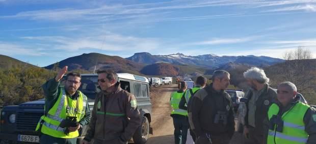 Palencia.- Personal que participa en el operativo de búsqueda del oso