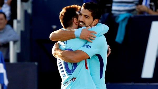 Messi y Luis Suárez