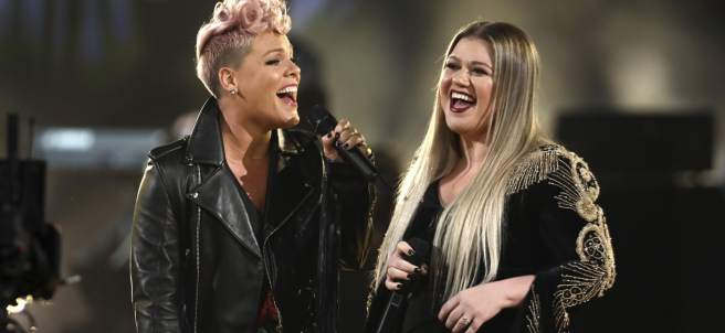 Pink y Kelly Clarkson