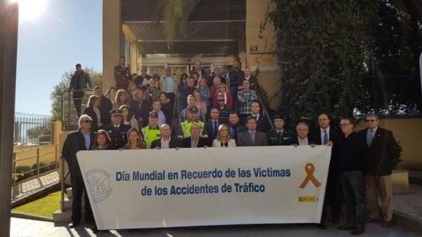 Minuto de silencio con motivo del Día Mundial de las Víctimas del Tránsito.