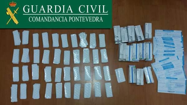 Cuatro detenidos en el peaje de Vilaboa con ansiolítico y recetas falsas