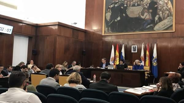 Pleno extraordinario del Ayuntamiento de Santander