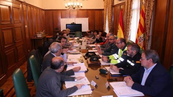 Reunión en Teruel sobre  el Plan de Vialidad Invernal 2017-2018