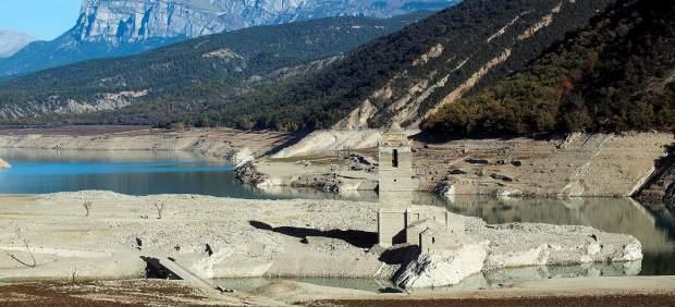 Imagen del pantano de Mediano, Huesca