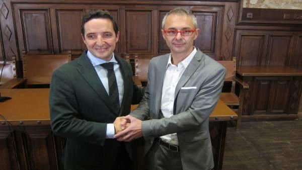 Los candidatos a rector de la USAL, Juan Manuel Corchado y Ricardo Rivero