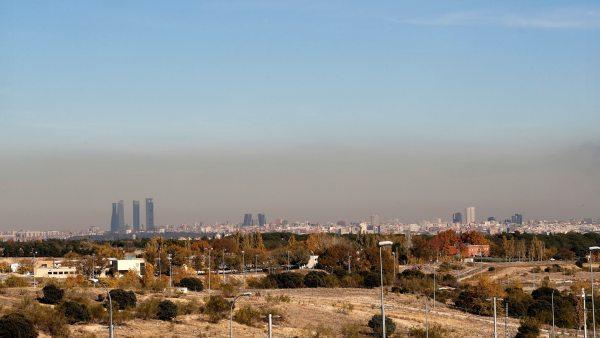 Capa de contaminación en Madrid