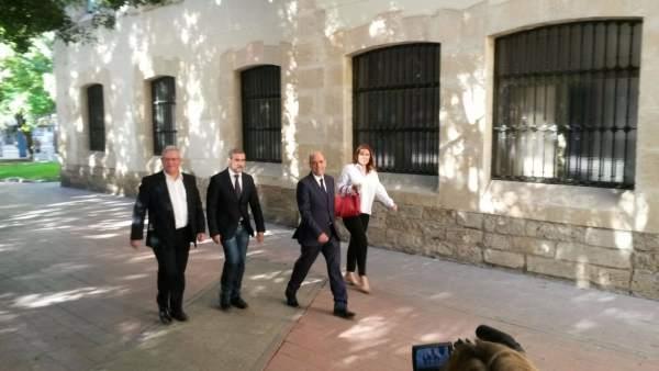 De izq a dcha: Pedro De Gea, Lalo Díez y Gabriel Echávarri