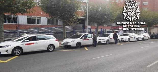 Parada de taxis en Burgos.