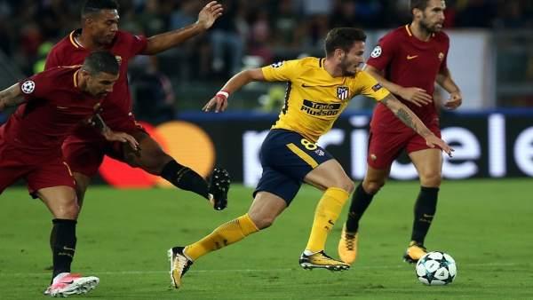Saúl en el Atlético - Roma