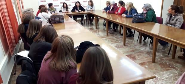 Reunión en CCOO con las trabajadoras de Eulen