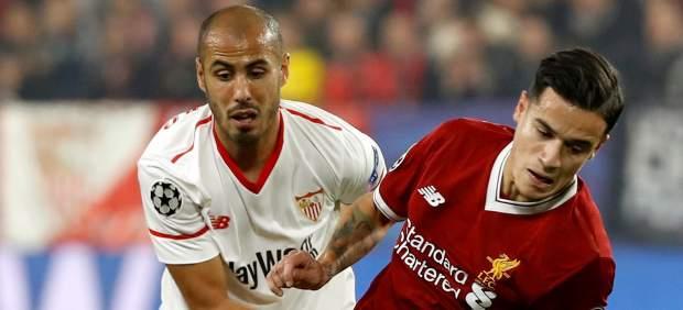 El Sevilla empata un partido que tenía perdido ante el Liverpool y deja abierta la clasificación