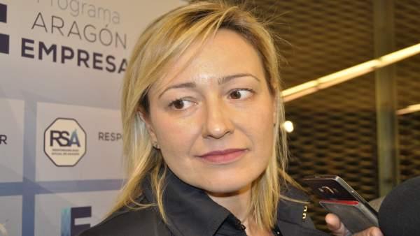 La consejera de Economía, Industria y Empleo del Gobierno de Aragón Marta Gastón