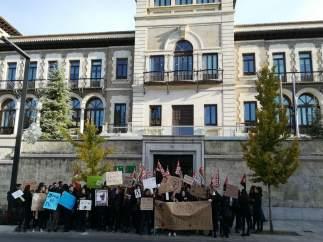 Protesta del alumnado del Conservatorio de Música Victoria Eugenia