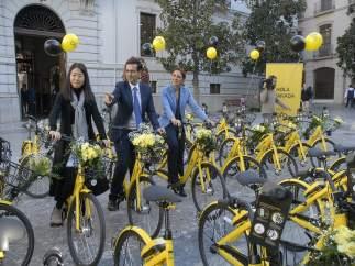 Presentación del servicio de bicis compartidas de Ofo