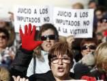 Protesta frente al juicio a La Manada en Pamplona