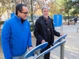 Santisteve y Cubero han visitado hoy el parque de mayores en Plaza de los Sitios