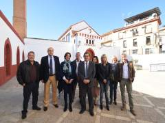 Visita del presidente de Diputación a Cortes y Graena
