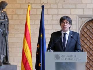 El expresident de la Generalitat, Carles Puigdemont, en una imagen de archivo.