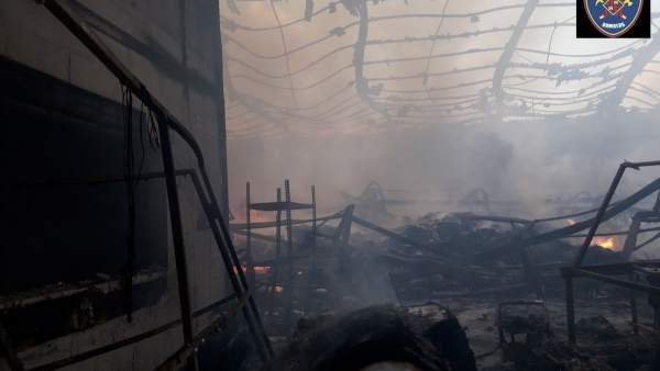 Incendio en un polígono de Marratxí el pasado sábado