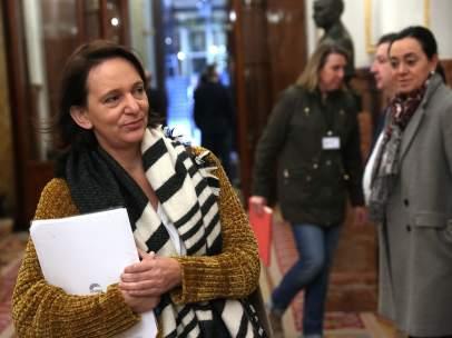 Carolina Bescansa, diputada y confundadora de Podemos, este jueves en el Congreso.