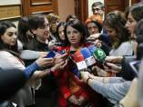 Adriana Lastra, número dos del PSOE y portavoz en la comisión territorial.