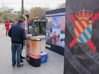 Exposición sobre la Unidad Militar de Emergencias (UME).