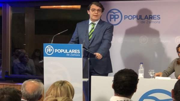 Zamora.- Intervención de Fernández Mañueco en Toro