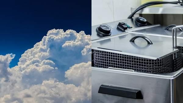 Freidora y nubes