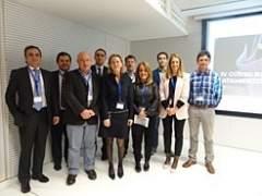 Los ponentes con los organizadores del curso.
